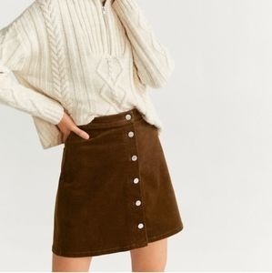 Brown High waist skirt - Mango